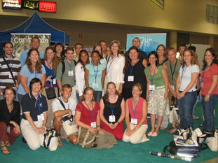Coral reef conservationists at the International Coral Reef Symposium in Ft. Lauderdale, July 2008.