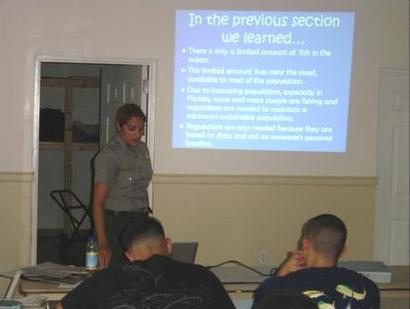 Students attending Biscayne National Park's Fisheries Awareness Class. Photo: Biscayne National Park Staff