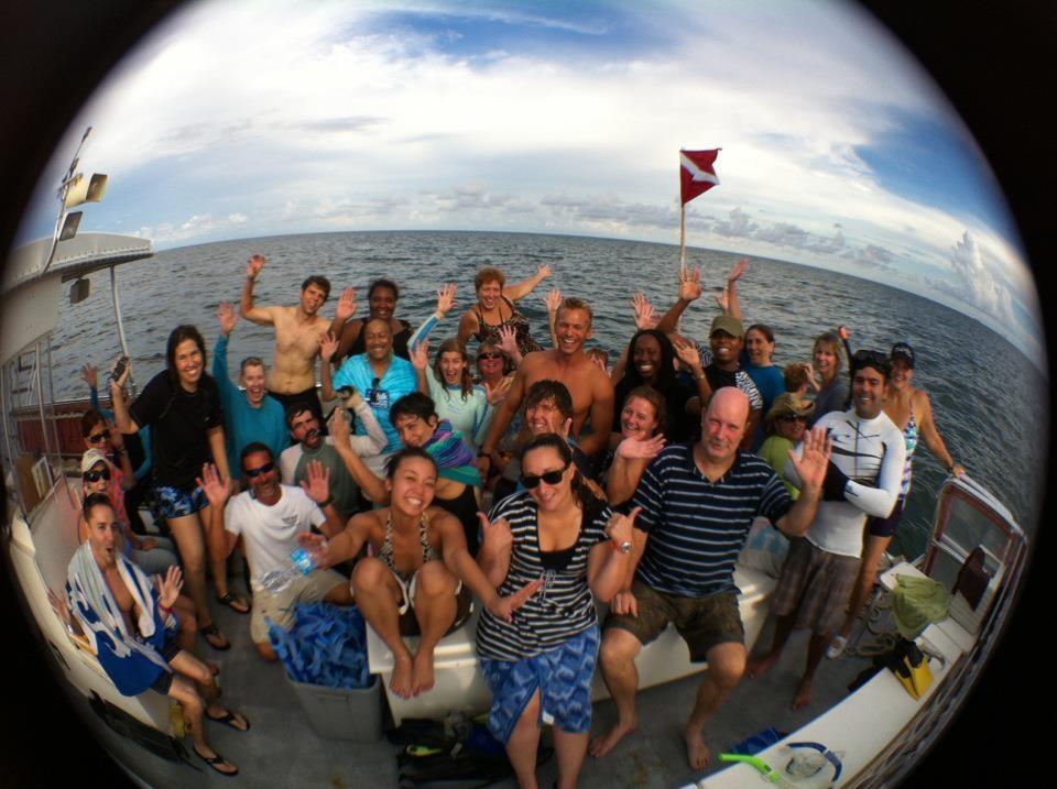 Happy teachers on the snorkel trip.               Photo: Christopher Boykin